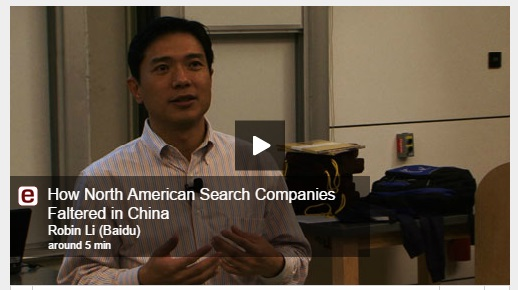 Baidu CEO : tips to International company to success in China